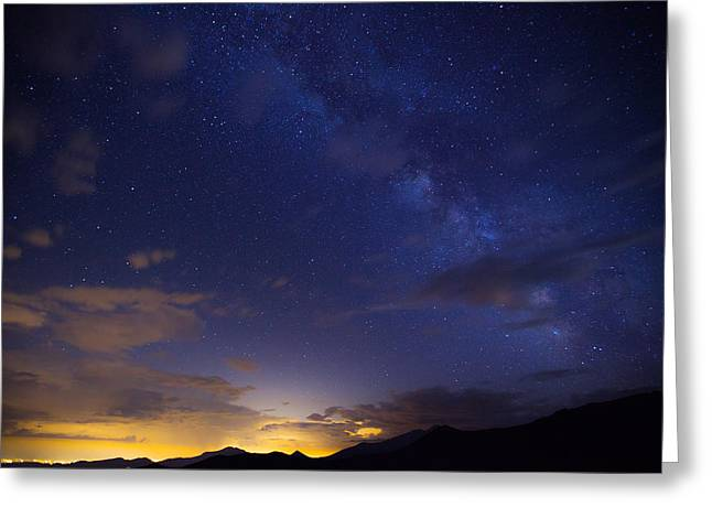Milky Way Photographs Greeting Cards - Denvers Milky Way Greeting Card by Darren  White