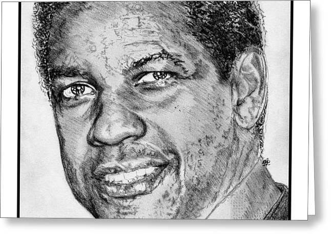 Denzel Washington in 2009 Greeting Card by J McCombie