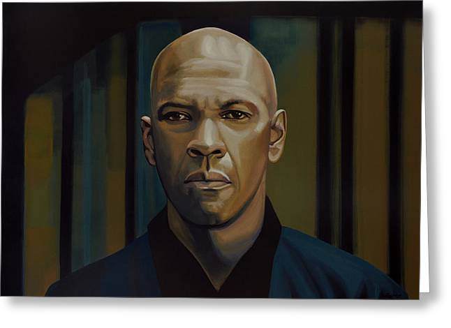 Denzel Washington In The Equalizer Painting Greeting Card by Paul Meijering