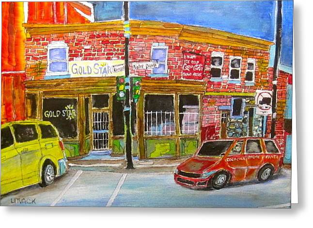 Depanneur Courcelle Greeting Card by Michael Litvack