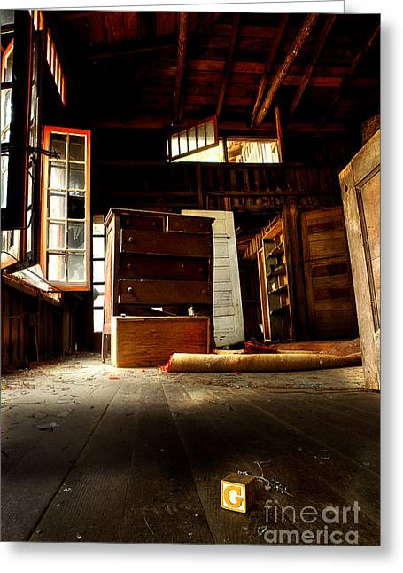Abandoned House Greeting Cards - Departed Years Greeting Card by Michael Eingle
