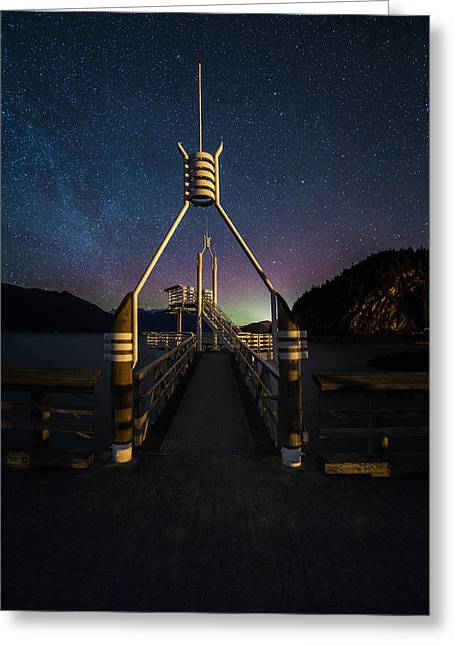 Porteau Cove Provincial Park Greeting Cards - Departure Time Greeting Card by Bun Lee