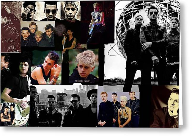 80s Pop Music Digital Greeting Cards - Depeche Mode Dazzle Greeting Card by Daniel Rojas