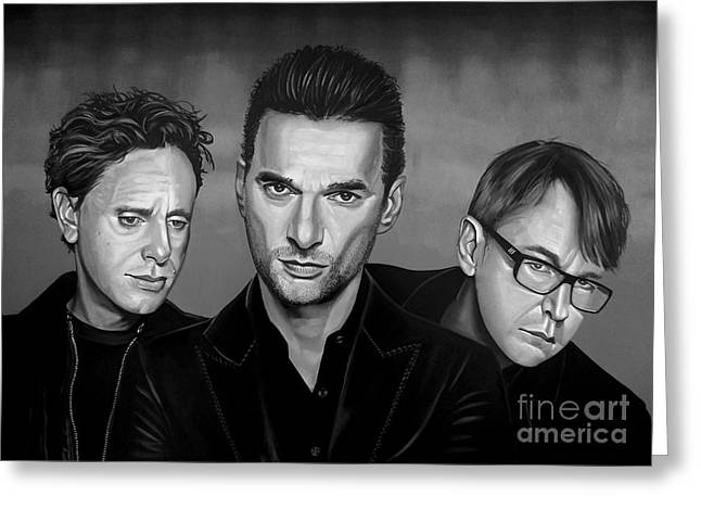 The Concert Of Angels Greeting Cards - Depeche Mode Greeting Card by Meijering Manupix