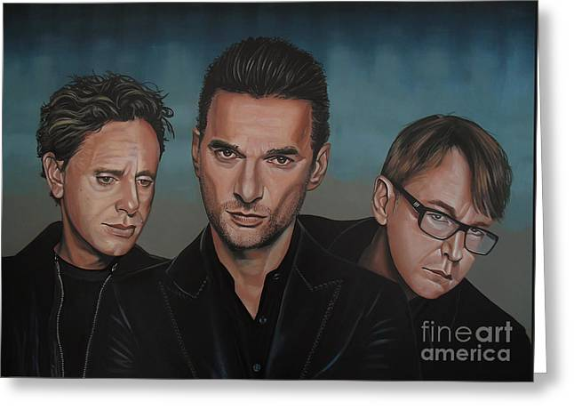 Dave Greeting Cards - Depeche Mode Greeting Card by Paul  Meijering