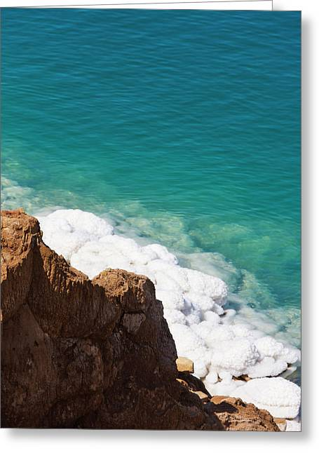 Deposit Of Salt And Gypsum By The Cliff Greeting Card by Keren Su