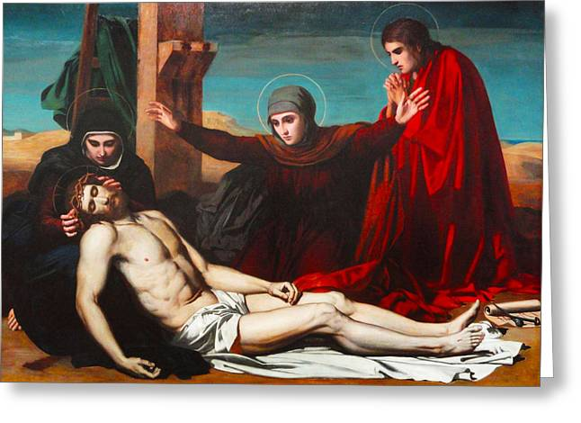 Jesus Christ Images Digital Art Greeting Cards - Deposition Of Jesus Christ Greeting Card by Jean Leon Palliere