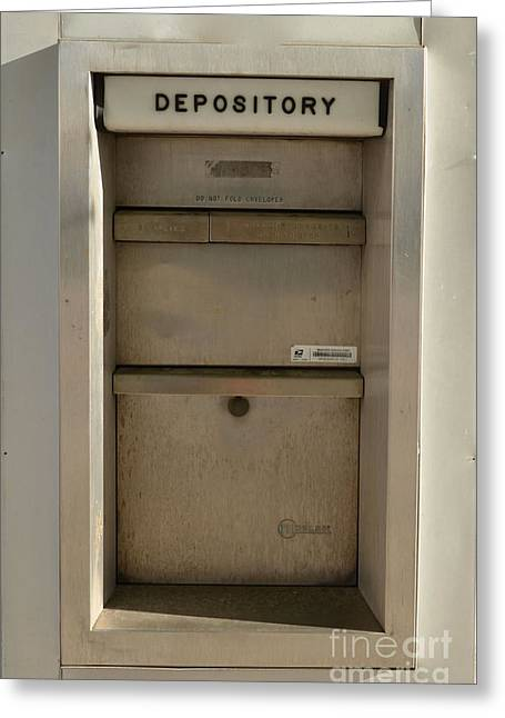 Depository Greeting Cards - Depository Greeting Card by Bob Sample