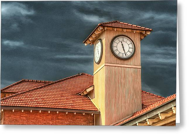 Depot Time Greeting Card by Brenda Bryant