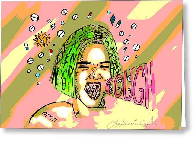 Bipolar Digital Art Greeting Cards - Depressive #2 Greeting Card by LaShanna  Cooper