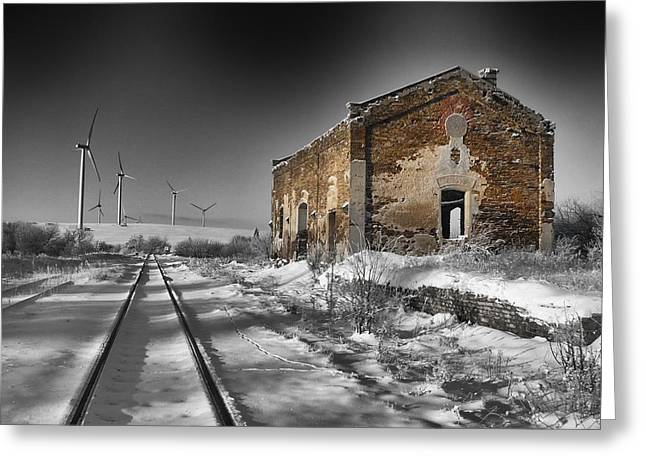 Railway Transportation Greeting Cards - Depth of Winter Greeting Card by Mountain Dreams