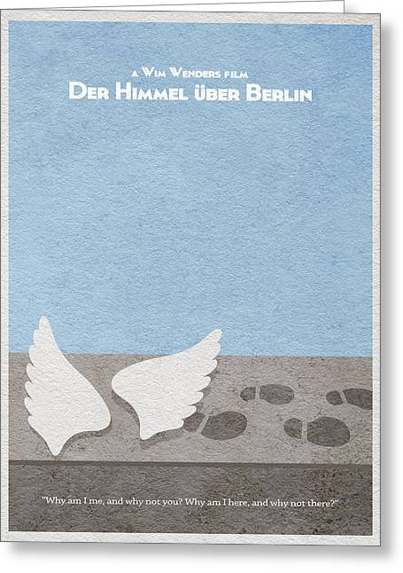 Winged Greeting Cards - Der Himmel uber Berlin  Wings of Desire Greeting Card by Ayse Deniz