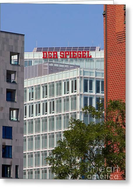 Newspaper Publisher Greeting Cards - Der Spiegel Hamburg Greeting Card by Jannis Werner