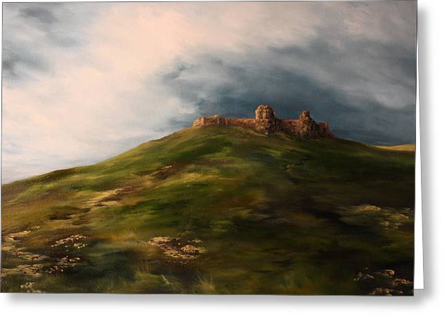 Deralict Chartley Castle Staffordshire Greeting Card by Jean Walker