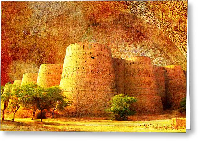 Akbar Shahjahan Greeting Cards - Derawar Fort Greeting Card by Catf