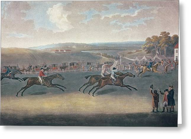 Race Photographs Greeting Cards - Derby Sweepstake, 17912 Greeting Card by J. Francis Sartorius