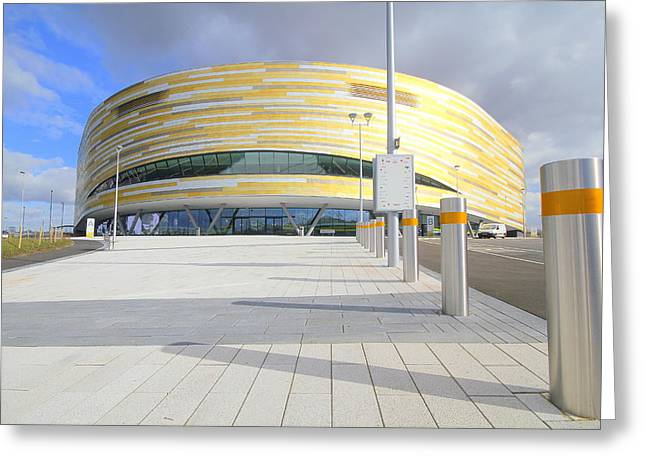 English Greeting Cards - Derby Velodrome #2 Greeting Card by Geoff Ford