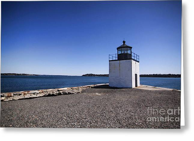 Seaside Decor Posters Greeting Cards - Derby Wharf Lighthouse Greeting Card by K Hines