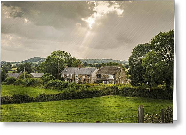 Cottage Photographs Greeting Cards - Derbyshire Cottages Greeting Card by Amanda And Christopher Elwell