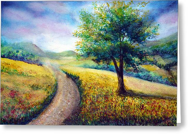 Kinkade Greeting Cards - Derbyshire View Greeting Card by Ann Marie Bone