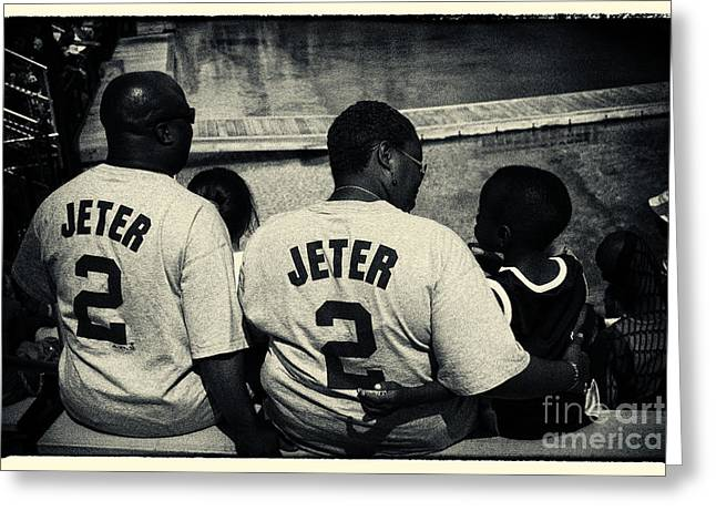 Nyc Greeting Cards - Derek Jeter Family New York City Greeting Card by Sabine Jacobs