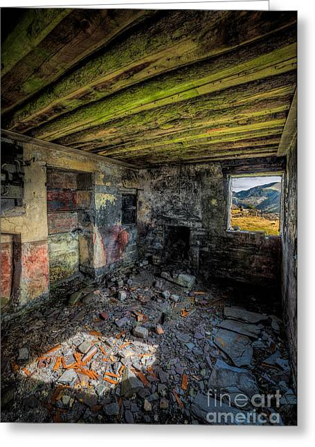 Plaster Greeting Cards - Derelict Cottage Greeting Card by Adrian Evans