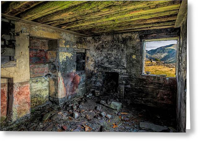 Derelict Cottage Greeting Card by Adrian Evans