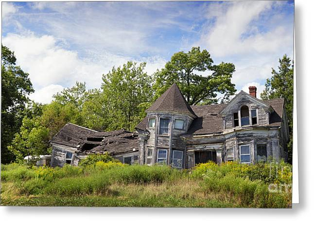 Dilapidated Houses Greeting Cards - Derelict house Greeting Card by Jane Rix