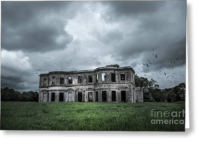 Beautiful Creek Digital Greeting Cards - Derelict Mansion  Greeting Card by Svetlana Sewell