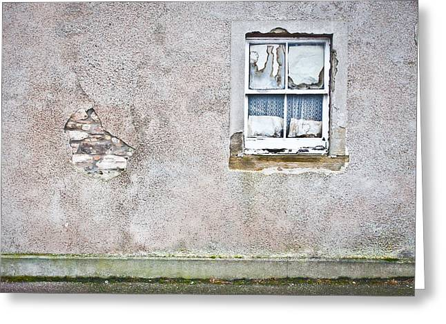 Destroyed Greeting Cards - Derelict window Greeting Card by Tom Gowanlock