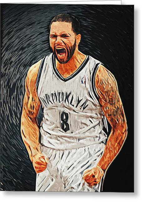 Deron Williams Greeting Card by Taylan Soyturk