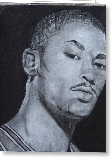 Aaron Balderas Greeting Cards - Derrick Rose Greeting Card by Aaron Balderas