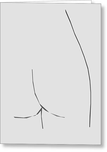 Sex Drawings Greeting Cards - Derriere  Greeting Card by Jerry Cordeiro