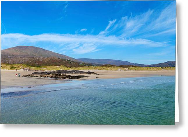 Sandy Beaches Greeting Cards - Derrynane Beach, Caherdaniel, Iveragh Greeting Card by Panoramic Images