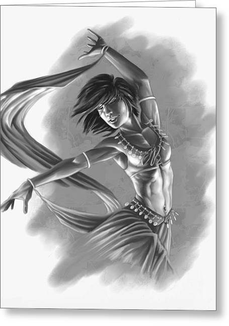 Dancing Girl Greeting Cards - Dervish Greeting Card by Bryan Syme