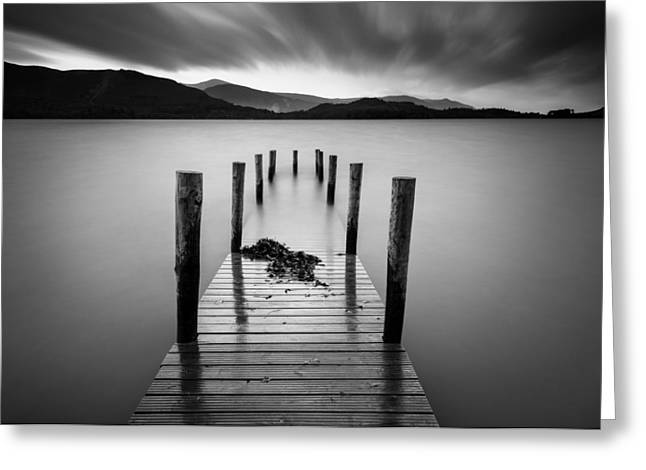 Cumbria Greeting Cards - Derwent Water Jetty Greeting Card by Dave Bowman
