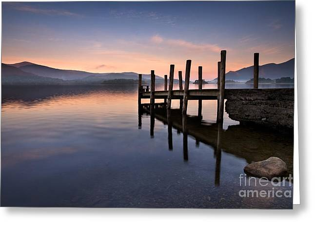 Vista Greeting Cards - Derwent Water Jetty Greeting Card by Rod McLean