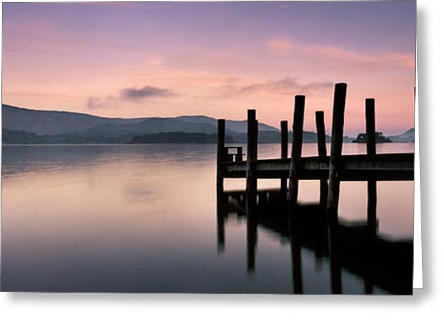 Park Scene Greeting Cards - Derwent Water Greeting Card by Rod McLean