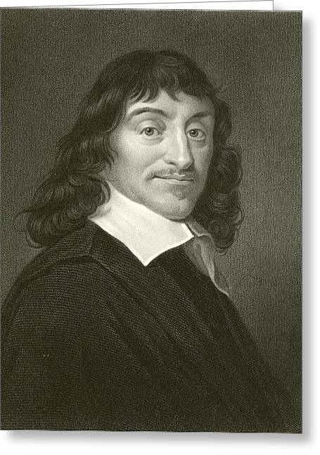 Intelligent Greeting Cards - Descartes Greeting Card by English School