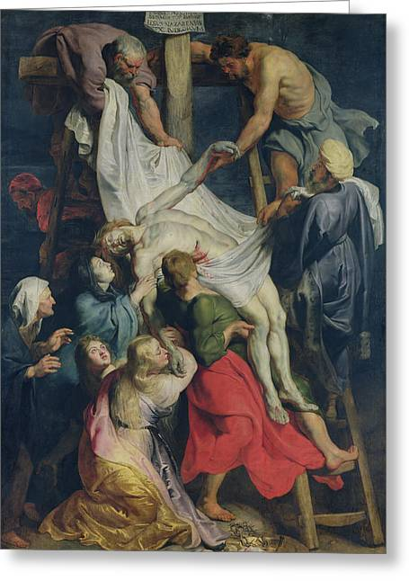 Descent From The Cross, 1617 Greeting Card by Peter Paul Rubens