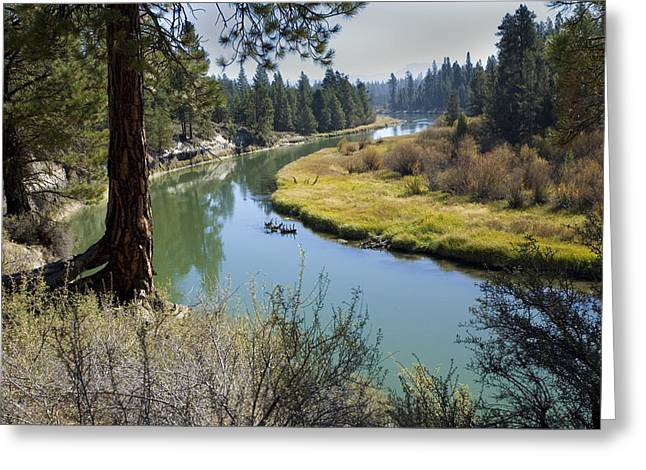 Deschutes River Greeting Cards - Deschutes River in Autumn Greeting Card by Bonnie Bruno