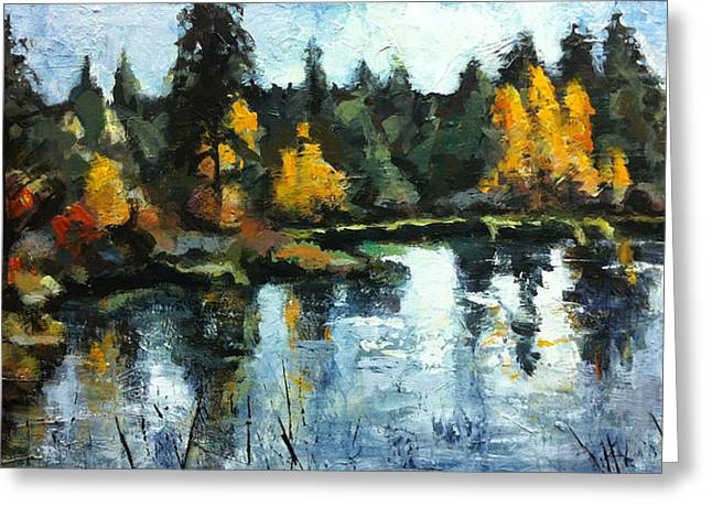 Deschutes River Greeting Cards - Deschutes River Trail Greeting Card by Mary Medrano