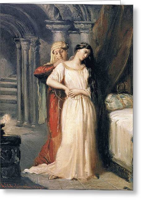 Desdemona Greeting Cards - Desdemona Greeting Card by Theodore Chasseriau