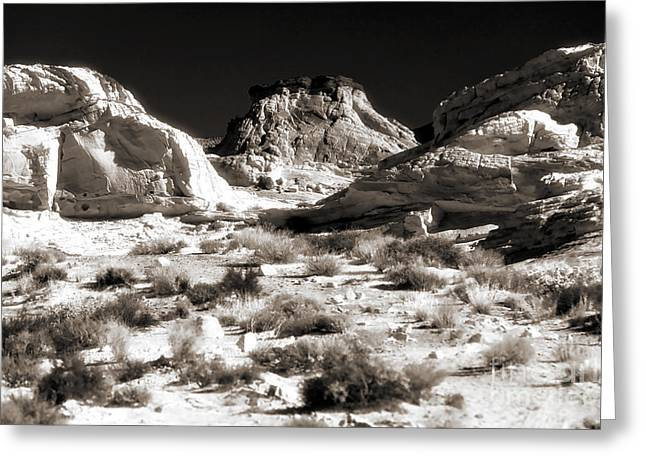 Brown Toned Art Greeting Cards - Desert Altar Greeting Card by John Rizzuto