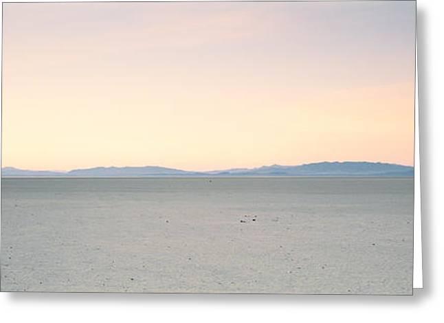 Dry Lake Photographs Greeting Cards - Desert At Sunrise, Black Rock Desert Greeting Card by Panoramic Images