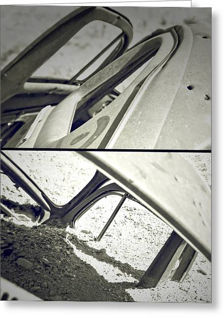 Rusted Cars Greeting Cards - Desert Autoshow Greeting Card by Mark Ross
