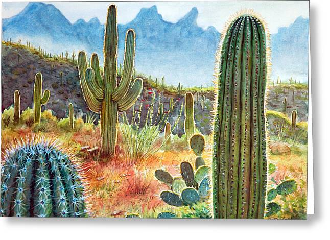 Deserts Greeting Cards - Desert Beauty Greeting Card by Frank Robert Dixon