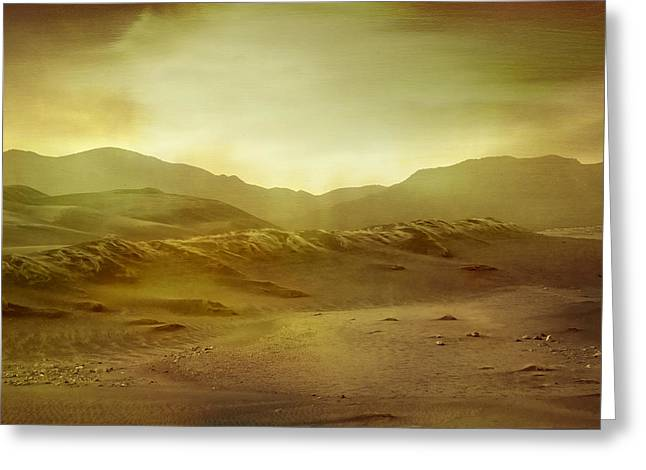 Epic Amazing Colors Landscape Digital Modern Still Life Trees Warm Natural Earth Organic Paint Photo Chic Decor Interior Design Brett Pfister Art Digital Art Digital Art Greeting Cards - Desert Greeting Card by Brett Pfister