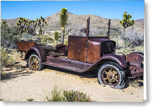 Rusted Cars Greeting Cards - Desert Car Greeting Card by Joseph S Giacalone