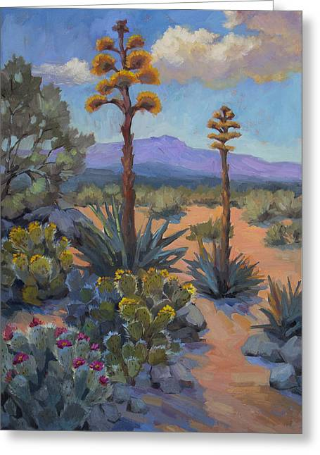 Sonoran Desert Greeting Cards - Desert Century Plants Greeting Card by Diane McClary